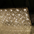 High Quality Hanging Project Lamp Rectangular Luxury Clear Crystal Chandelier