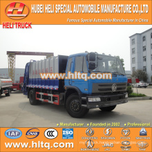 DONGFENG 4x2 12 M3 garbage compactor truck with pressing mechanism diesel engine 190 hp