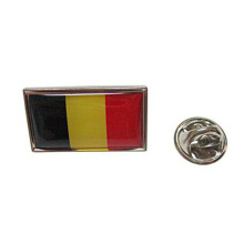 Metal Belgium National Flag Lapel Pins Med Emalj