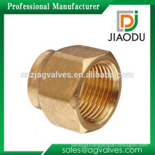 Zhejiang manufacturer high quality forged original brass color customized npt female threaded brass short nut