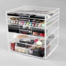 Caixa de armazenamento de cosméticos de acrílico transparente para maquiagem