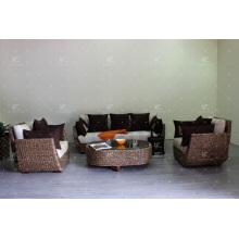 Unique Amusing DesignsAntique Conjunto de sofá de jacinto de água natural para sala de estar Móveis de vime