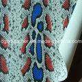 Snake surface PU double-face chaussures en cuir (QDL-SP029)