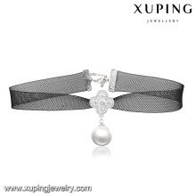 00133-cheap atacado moda jóias colar gargantilha de veludo