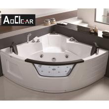 Aokeliya three-side skirt massage transparent clear acrylic bathtubs whirlpools freestanding