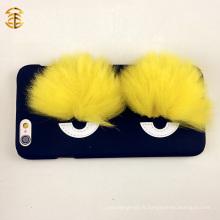 Housse de téléphone élégante Fox Fur Eyes pour Apple Iphones