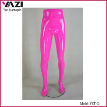 Pink Color Half Size Male Mannequin for Pants Display