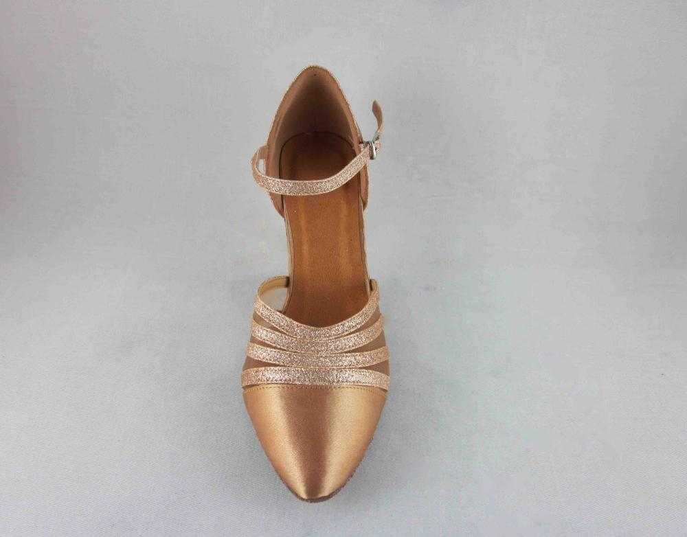 Flesh Satin Dance Shoes Au