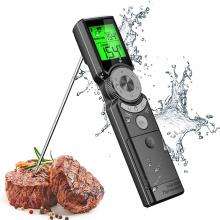 Termômetro de carne digital instantâneo inteligente com luz de fundo de três cores