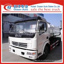 DFAC camión de basura hidráulica, camión de basura auto carga