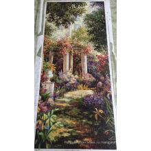 Фоновая дизайн Мозаика, Стеклянный узор Мозаичная настенная плитка (HMP924)