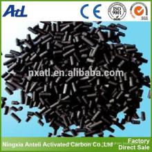 Pellet de carbón activado para separación de gases