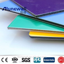 20 years FEVE Coating Glossy Color acp Aluminum Composite Panel exterior wall cladding