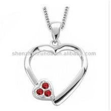 Colar de moda 2014 pingente de coração colar de aço inoxidável