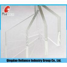 Verre ultra clair / verre de construction / verre flottant ultra transparent / verre flottant extral