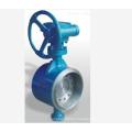 worm gear turbine drive wafer type butterfly valve