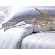 100%cotton satin stripe fabric for the hotel or hometextile