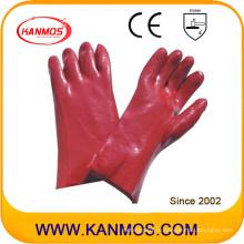 Анти-масляные красные цвета ПВХ с покрытием Промышленная безопасность Ручные рабочие перчатки (51206)