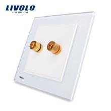 Livolo Smart Home Wall Banane 86 Prise Audio Groupe 1 Type VL-W291A-12