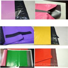 Sobre de envío de plástico coloreado plástico del envío de la prenda impermeable respetuosa del medio ambiente / anuncio publicitario plástico
