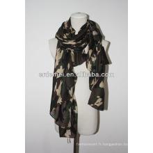 Écharpe en camouflure imprimée en polyester armée