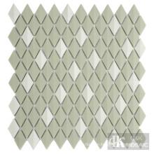 Diamond iridescent glass tiles