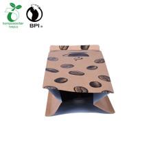 Caja de paquete personalizada Bolsa inferior Bolsa de granos de café