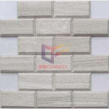Woooden Marble Stone Mosaic (CFS1037)