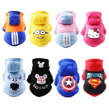 Dogs Cats Stylish Cartoon Hoodies Cotton Pet Clothing
