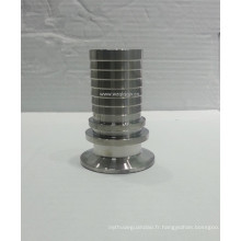 Adaptateur de tuyau hygiénique 3A Ferrule Fin / tuyau Joint / manchon / manchon en caoutchouc Ferrule 14mphr