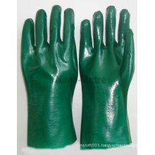 NMSAFETY green knitted thin cotton pvc household gloves