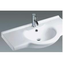 Cubierta superior de cerámica del lavabo del gabinete de baño (B1000)