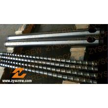 Barril de tornillo bimetálico Fabricante Barril de tornillo de extrusión de tubería de perfil de película de PE