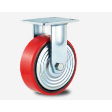 H6r Tipo de serviço pesado Rolamento de esferas duplo tipo fixo PU em altifalante de roda de núcleo de alumínio
