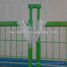 Paneles de acero temporales portátiles de la cerca de la construcción de 6'x10 'en polvo