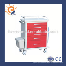 2015 HOT SALE ABS good quality emergency medical trolley emergency cart market FM-75