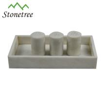Weißer Abendtisch-Marmor-Serviertablett