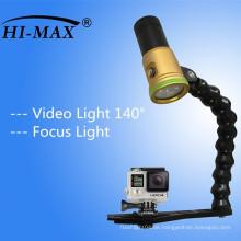 Tauch-Videokamera-Blitz-Licht-Fackel mit justierbarem Flexarm