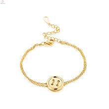 Delicate Jewelry Charm Fastener Womens Gold Bracelets