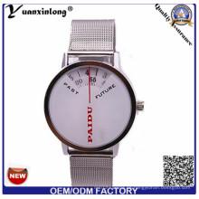 Yxl-371 neue Entwurfs-Maschen-Bügel-Mann-Uhr-Quarz-Digital-Chronograph-Edelstahl-Mode-Uhren