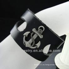 Pulsera caliente del cuero del estilo de la manera de la venta con el encanto 2013 BGL-021