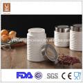 3 pcs/set Round Cylindrical ceramic food storage container