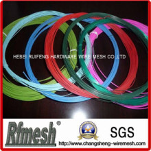 Dunkel grün PVC beschichtetem Draht, grauem Kunststoff beschichtet für Kleiderbügel, PVC-Eisen-Draht