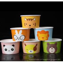 Copo de papel descartável para bebidas de sorvete