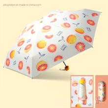 Fruit Design UV Protection Personalized Customized Mini Pocket Print Logos Umbrella