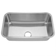 OEM manufacturer undermount single bowl SUS 304 stainless steel kitchen sink