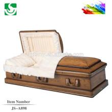 fabricantes de caixão melhores preço china caixão de madeira de carvalho