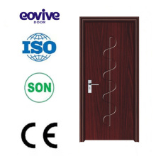 Swing wood bedroom bathroom PVC flush doors