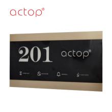 Smart hotel door panel