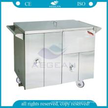 La comida del calentador de acero inoxidable AG-SS035D pone la carretilla clínica dental médica